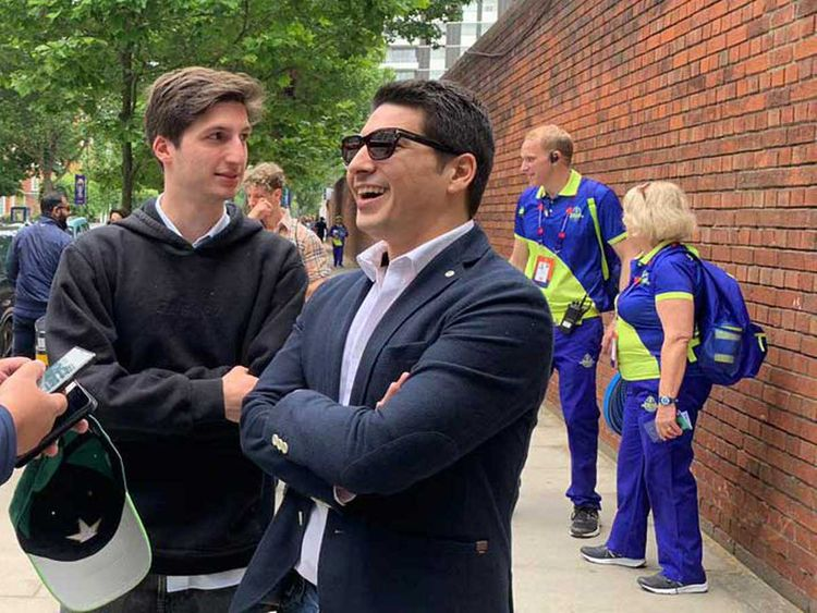 Cricket World Cup 2019: Pakistan Prime Minister Imran Khan's son and Pakistan Army Chief at Lord ...