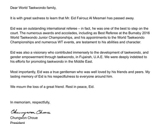 Taekwondo President