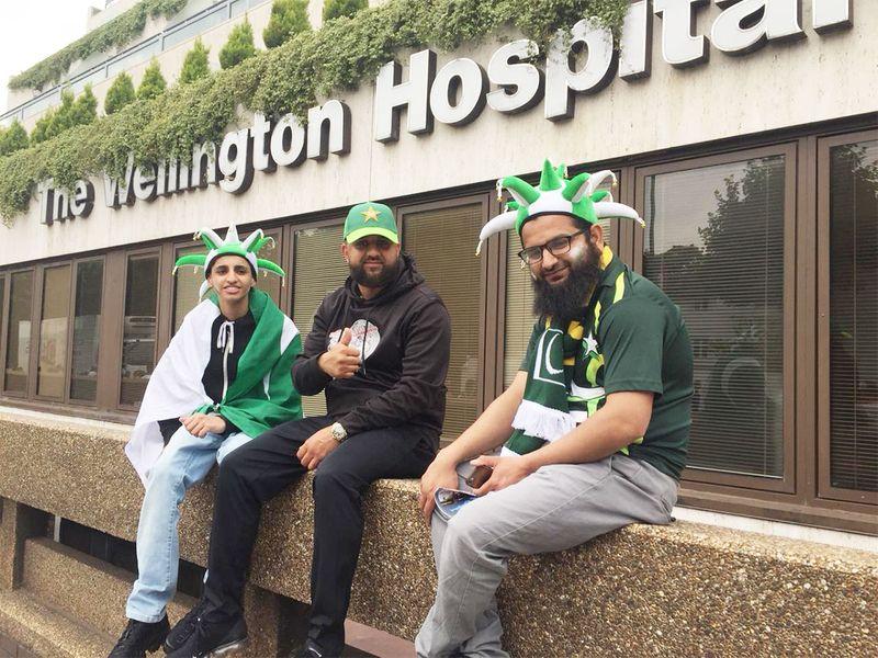 Three Pakistan supporters