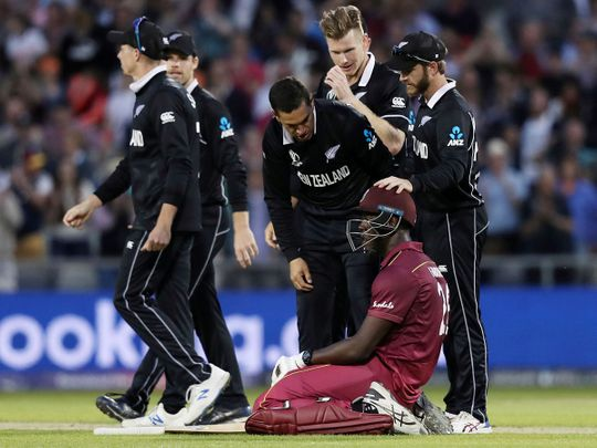 West Indies' Carlos Brathwaite