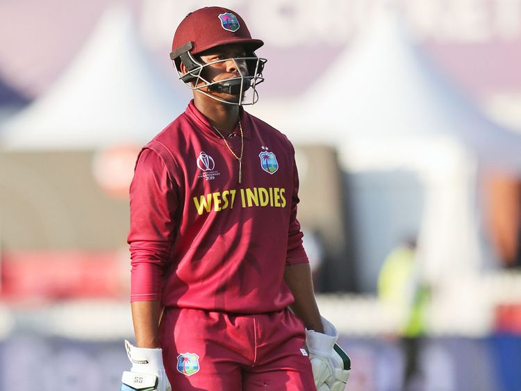 West Indies' Shimron Hetmyer