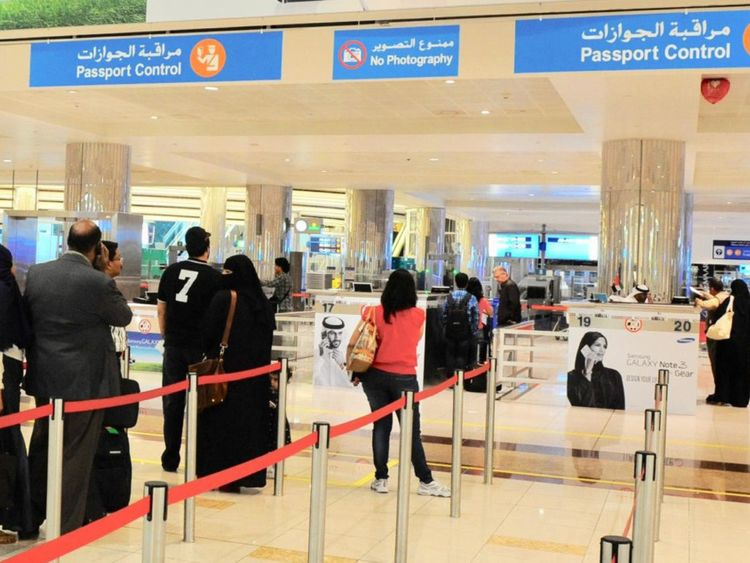 NAT 190624 Dubai airport passport control-1561383177638