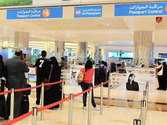 NAT 190624 Dubai airport passport control-1561383177638