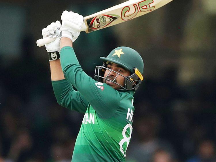 Pakistan's Haris Sohail plays a shot