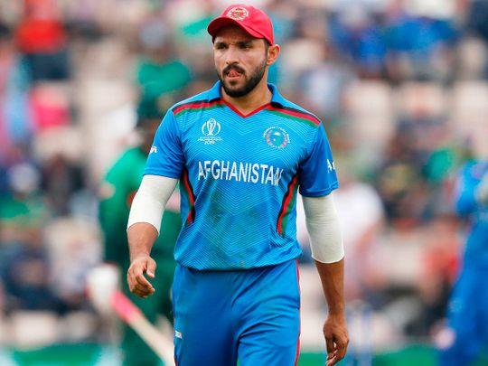 Afghanistan's captain Gulbadin Naib
