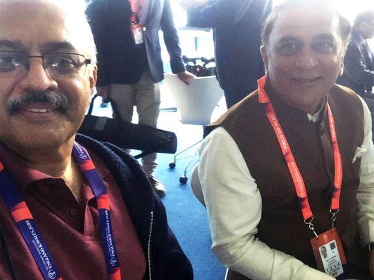 Breakfast with legendary batsman Sunil Gavaskar