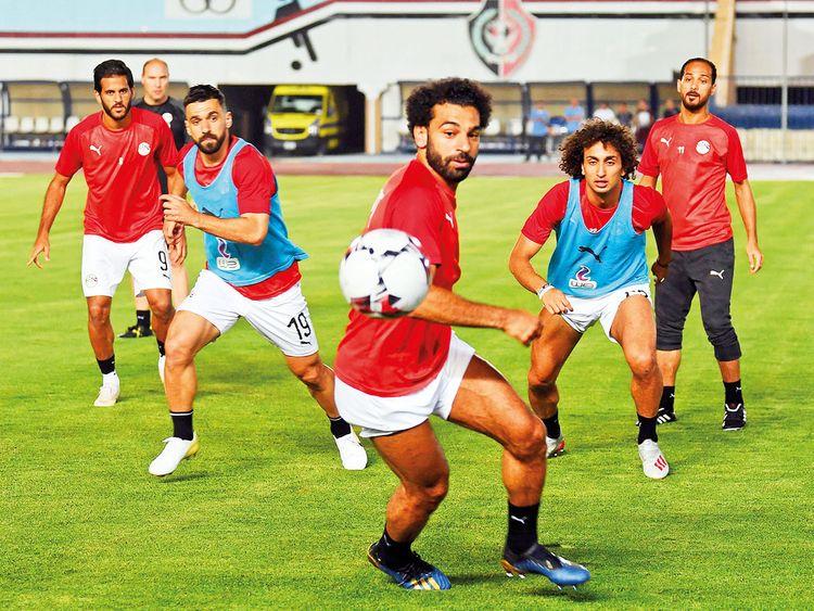 Egypt's forward Mohammad Salah