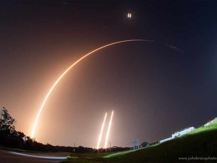 SpaceX Falcon Heavy spacecraft
