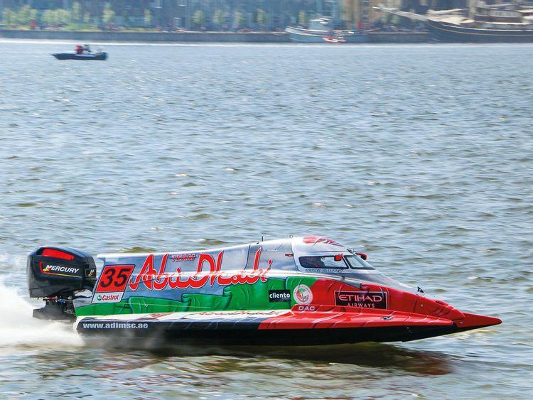 Team Abu Dhabi's Rashid Al Qamzi