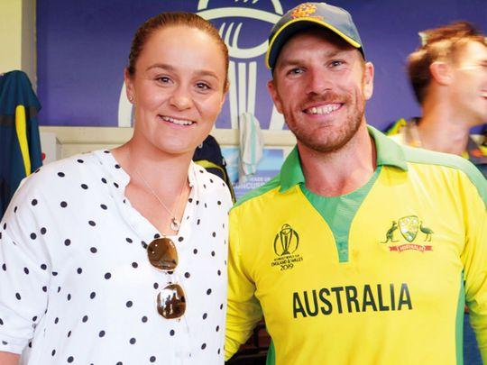 Aaron Finch met World No.1 Ashleigh Barty