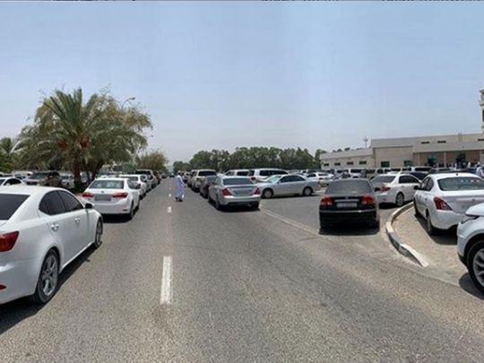 Blocked roads in Ajman