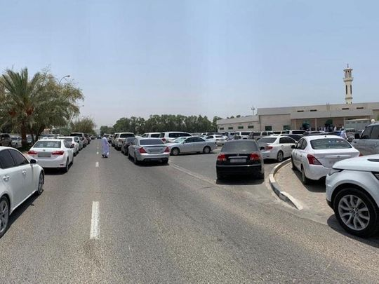 Illegal parking in Ajman
