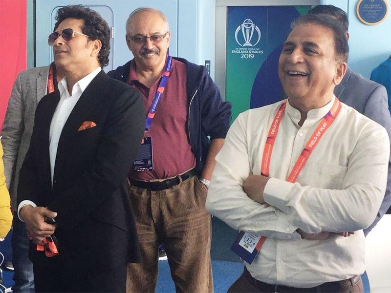 Me with Sachin Tendulkar (left) and Sunil Gavaskar (right) at Lord's