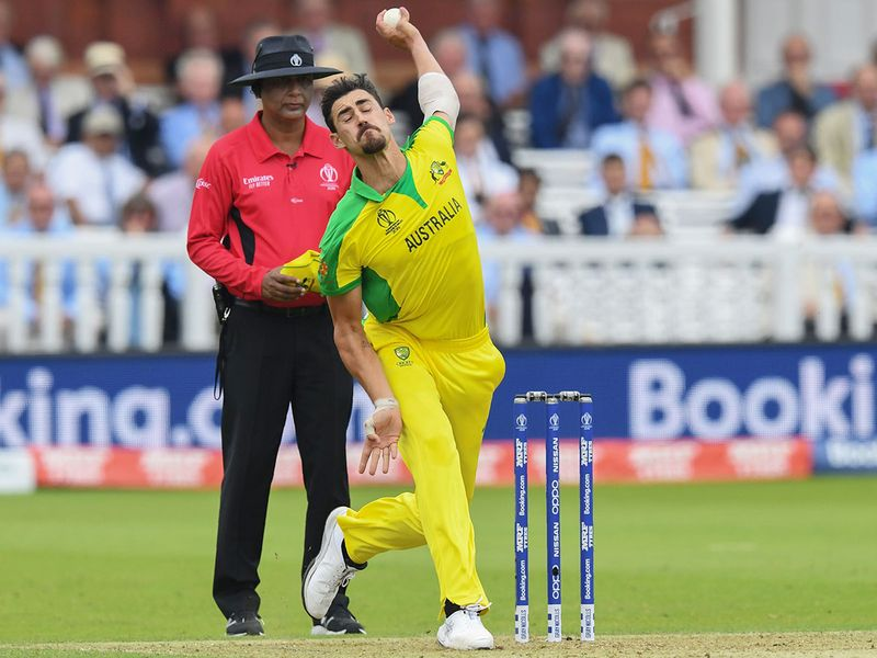 Mitchell Starc delivers a ball