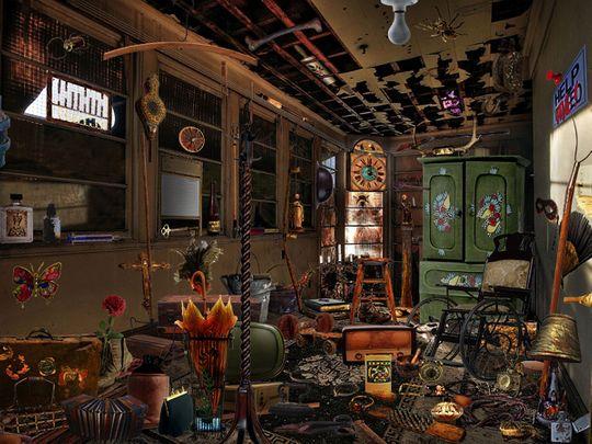 Overstuffed room