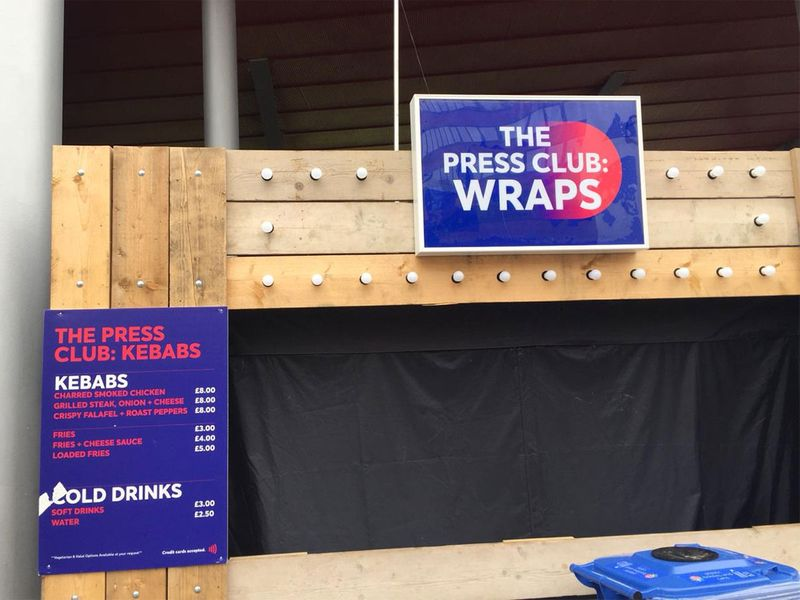 The Press Club wraps and kebabs