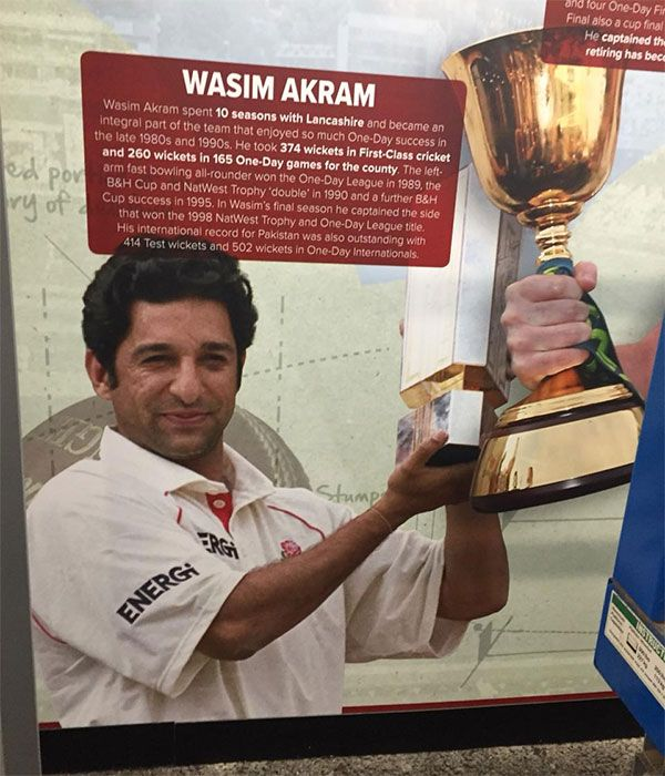 A drawing of Wasim Akram