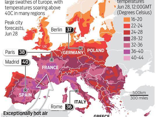 """EUROPE BRACED FOR """"DANGEROUS"""" HEATWAVE"""