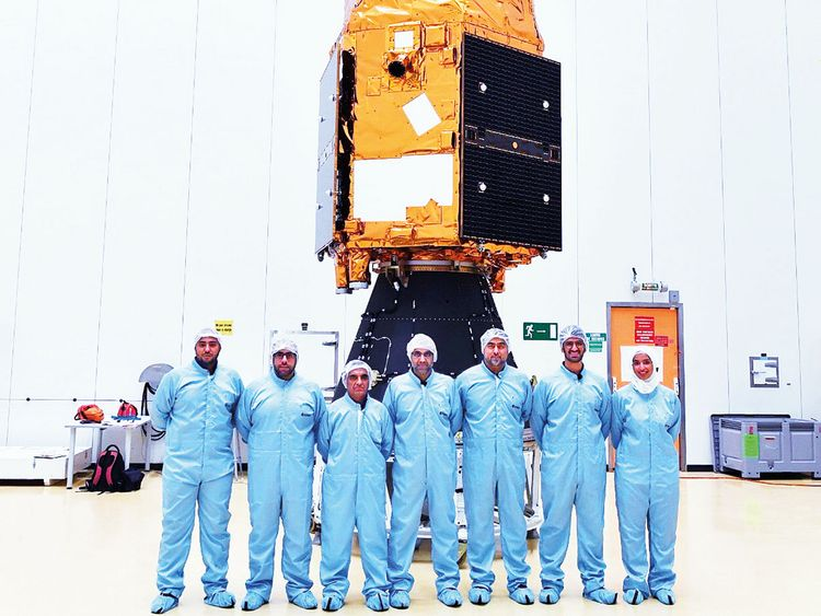 UAE scientists' team with Falcon Eye 1 preparing for launch