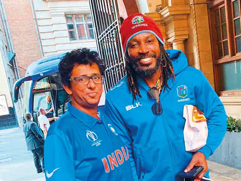 4bff2da65e UAE-based coach Gopal Jasapara, who is well known to the West Indies team,  with batsman Chris Gayle at the team's hotel after the match.
