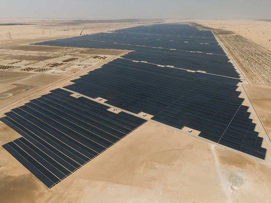 The Dh3.2-billion Noor Abu Dhabi solar plant 01