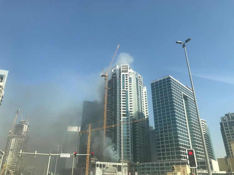 Fire breaks out in Dubai's Business Bay