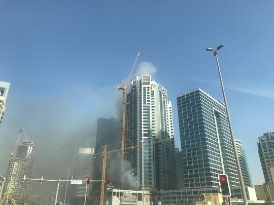 Fire breaks out in Dubai's Business Bay