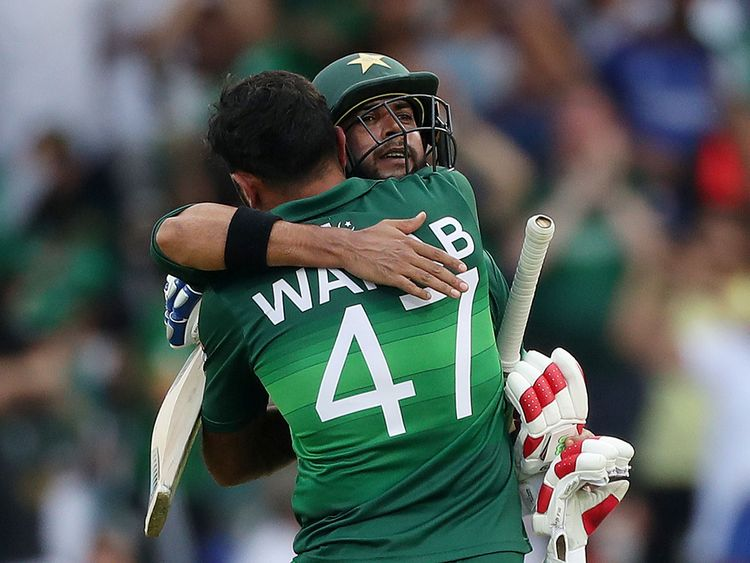 Pakistan's Imad Wasim and Wahab Riaz