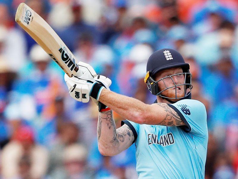 England's Ben Stokes plays a shot
