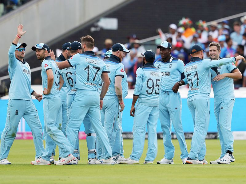 England's cricketers celebrate