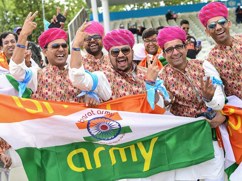 Indian supporters