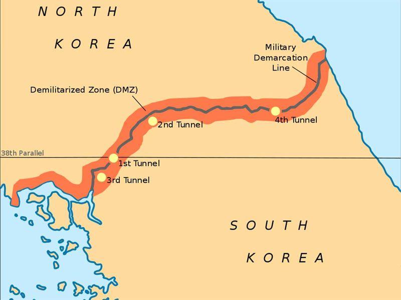 The Korea Demilitarised Zone (DMZ)