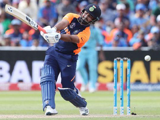 India's Rishabh Pant bats