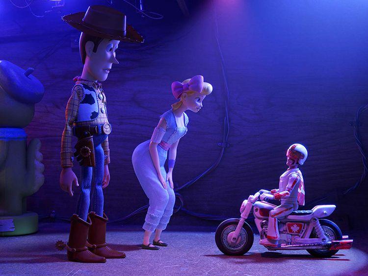 Tom Hanks, Keanu Reeves, and Annie Potts in Toy Story 4-1561967958492
