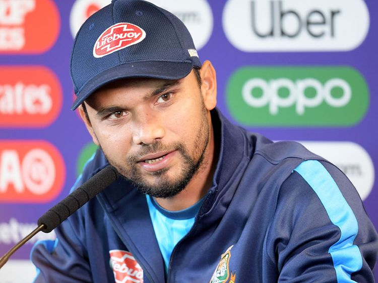 Bangladesh's captain Mashrafe Mortaza