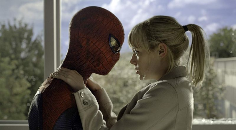 Emma Stone and Andrew Garfield in The Amazing Spider-Man 2012-1562046340699