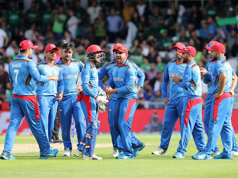 Afghanistan cricketers celebrate