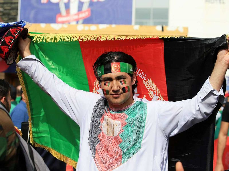An Afghan fan