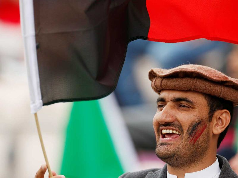 An Afghanistan cricket fan