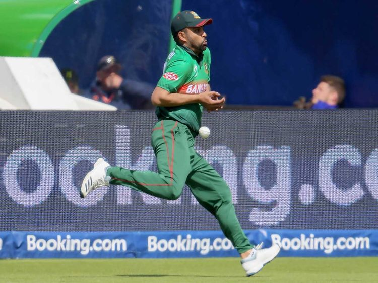 Bangladesh's Tamim Iqbal drops a catch