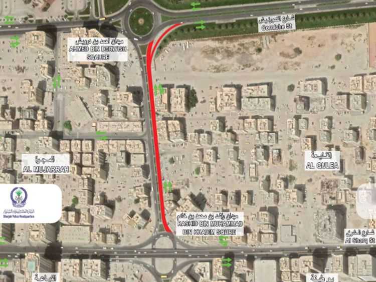 Sharjah Al Majarrah road works