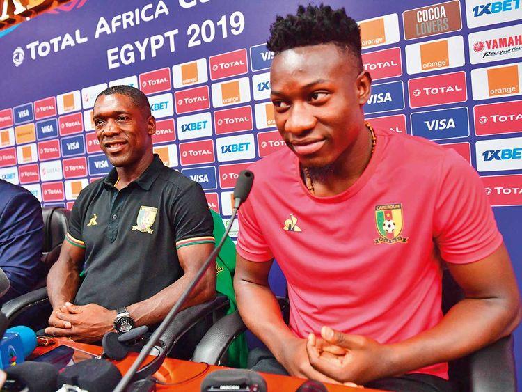 Cameroon goalkeeper Andre Onana