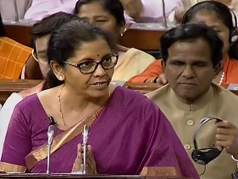 India's Finance Minister Nirmala Sitharaman
