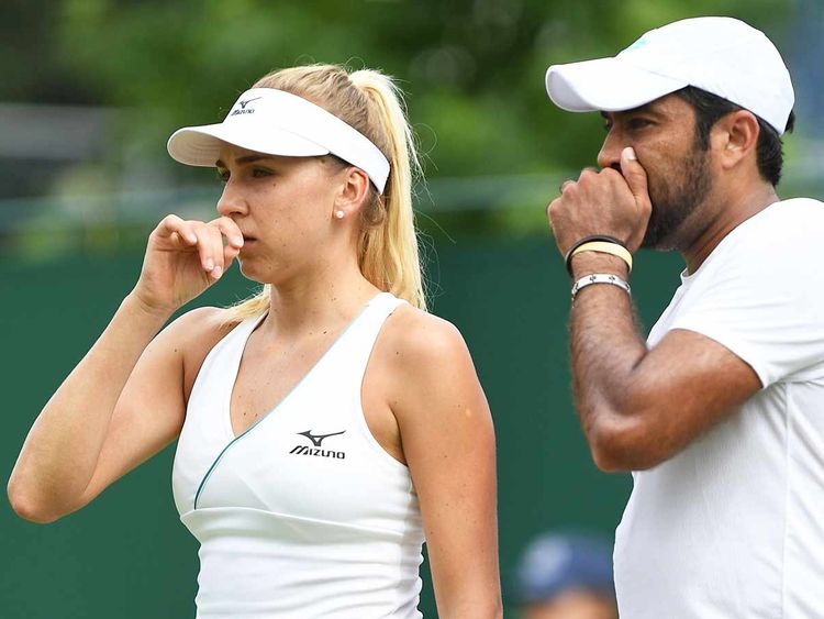 Aisam-ul-Haq Qureshi and Ukraine's Nadiia Kichenok 20100707