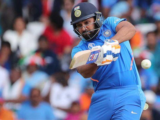India's Rohit Sharma bats