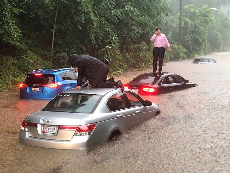 Rain hammers Washington region