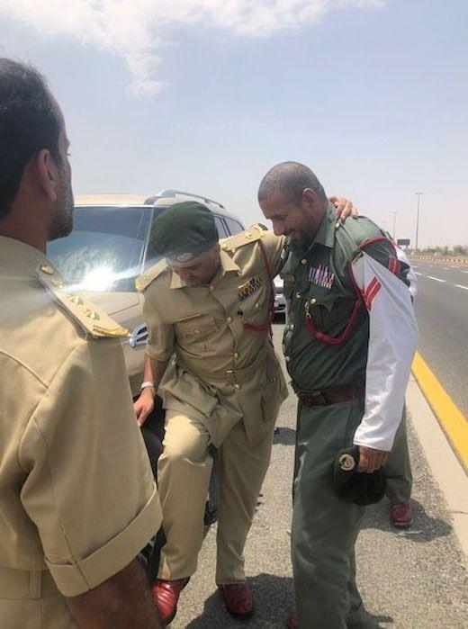 Dubai Police roadside