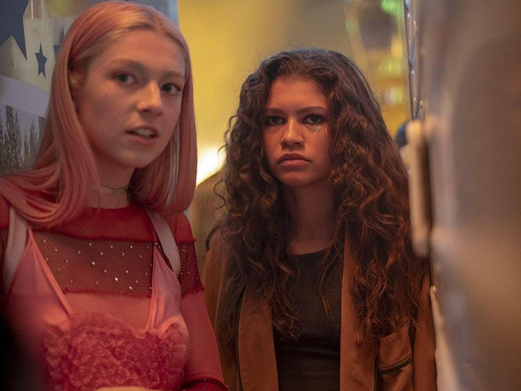 Zendaya and Hunter Schafer in Euphoria-1562664769976