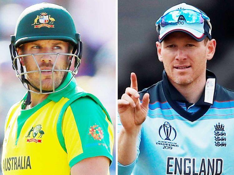 Australia skipper Aaron Finch and England captain Eoin Morgan