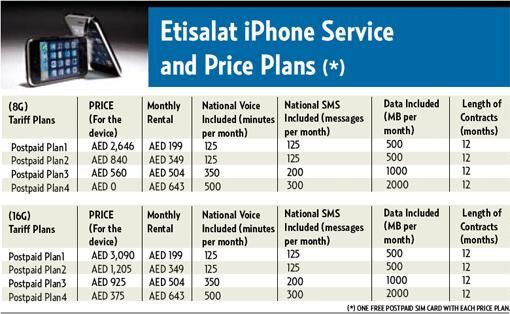 etisalat launches Apple's iPhone in UAE and Saudi Arabia